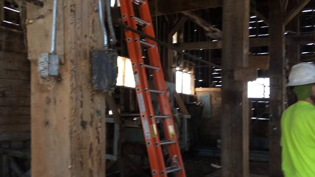 Take a quick tour of the 117-year-old famed Teweles and Brandeis grain elevator in Sturgeon Bay. Kiesow Enterprises is dismantled the structure that will be moved across the canal for storage with a possibility of restructuring next to Graham Park.