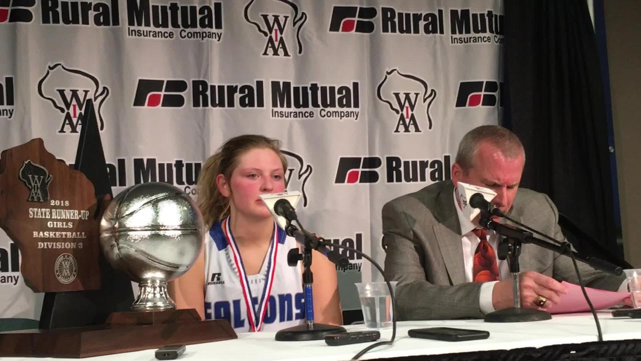 Amherst's Heather Pearson talks about her senior season and being happy about making it to the WIAA state girls basketball Division 3 championship game.