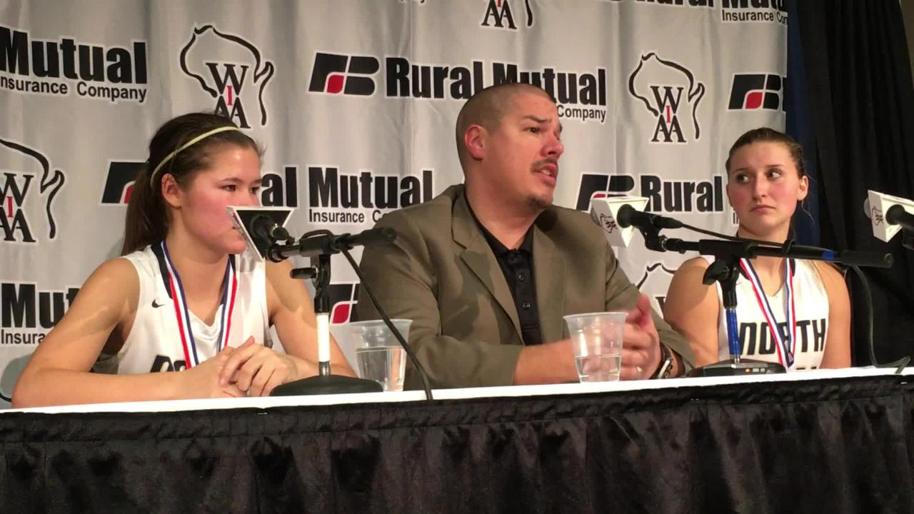 Appleton North girls basketball coach Joe Russom talks about how Kari Brekke and Sydney Levy have grown as players.