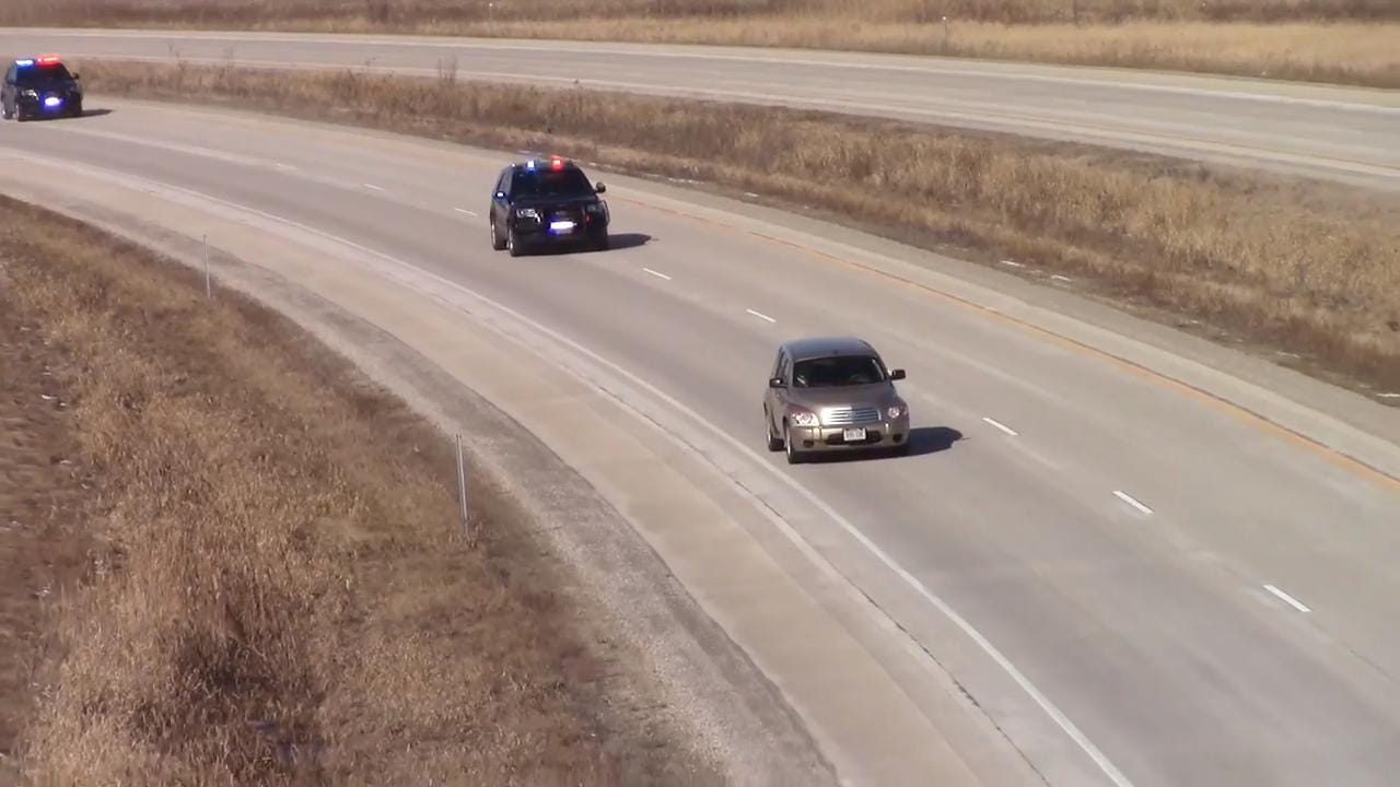 The chase started on State Highway 151 and ended on I-41