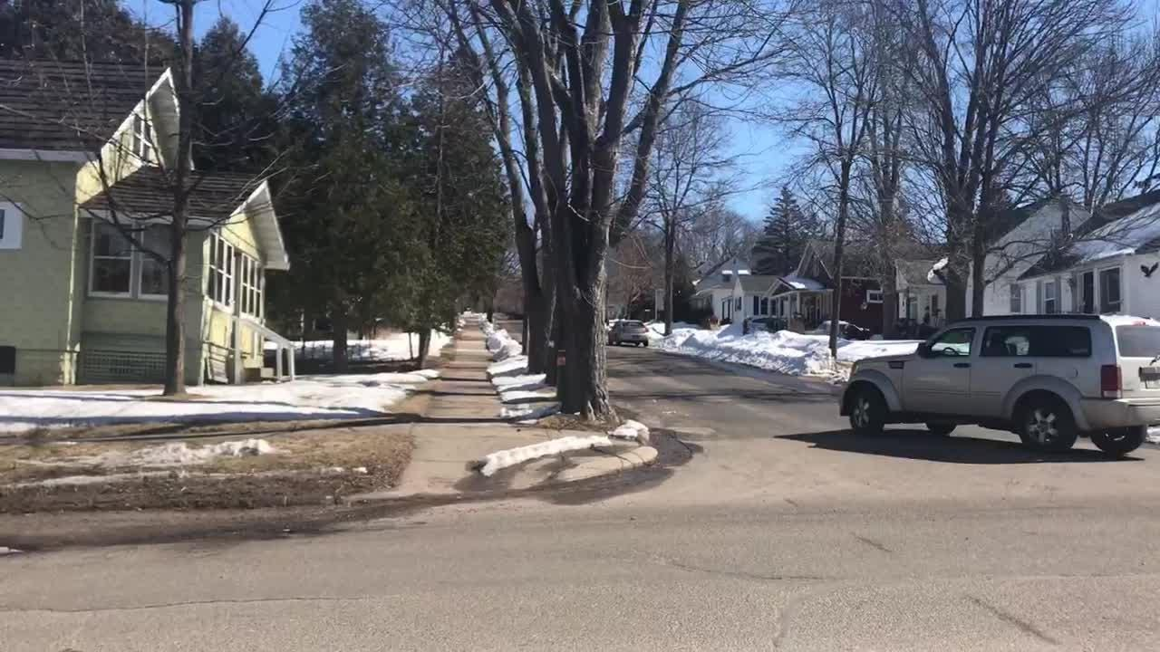 Armed police swarmed this neighborhood on Wausau's east side shortly after noon on Wednesday, March 14, 2018.