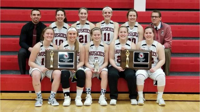The UW-Marathon County women's basketball team had a dominant season that finished with an Wisconsin Collegiate Conference state title earlier this month. Still in-game images in this video were taken by Rob Duberstein.