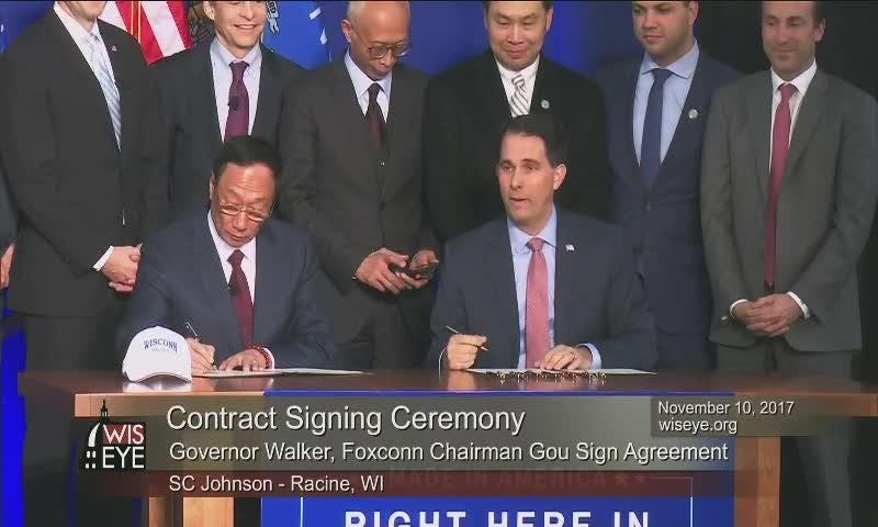 Video: Gov. Walker and Foxconn chairman's relationship nearly stalled