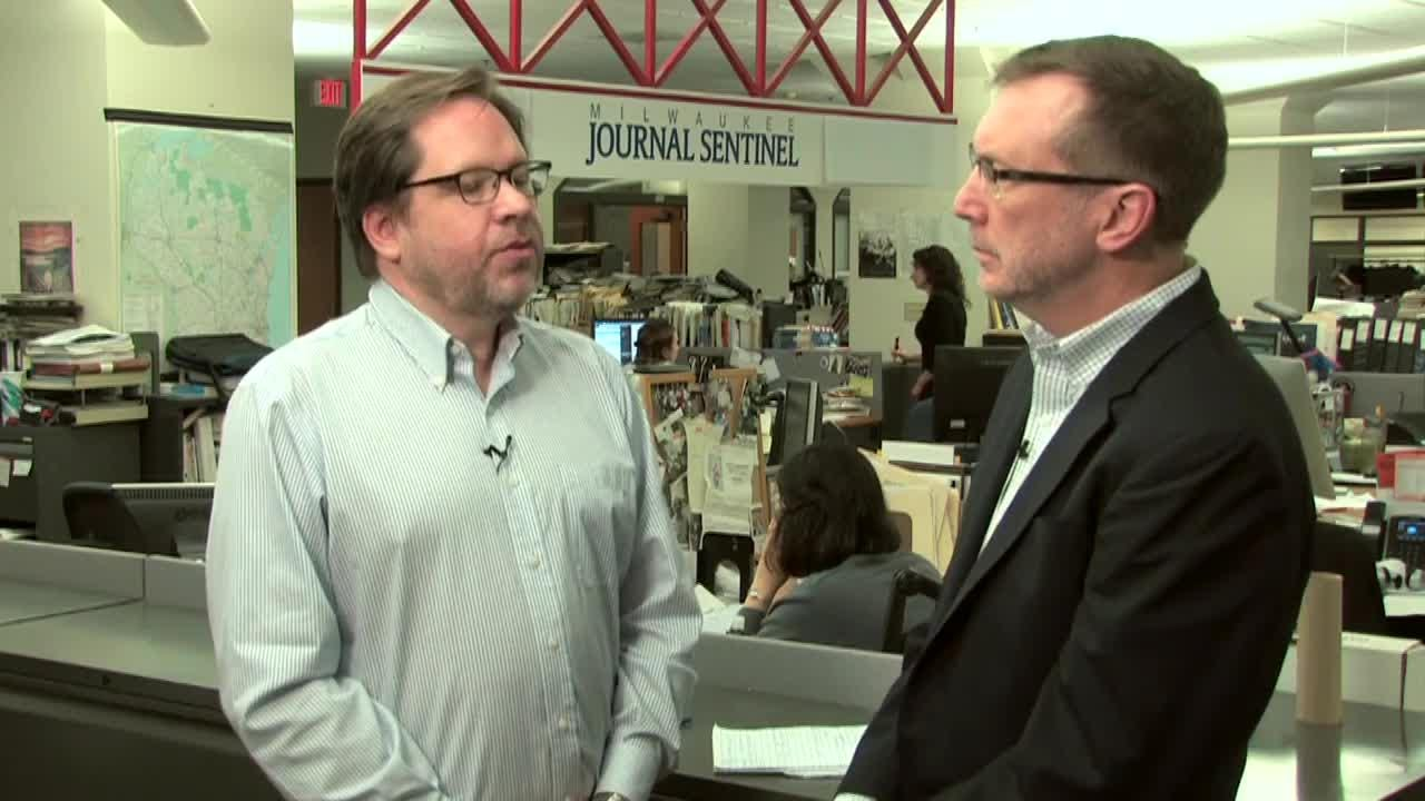 Milwaukee Journal Sentinel Watchdog columnist Dan Bice talks with editorial page editor David Haynes about the recent pension backdrop payouts, which included four people getting over a million dollars.