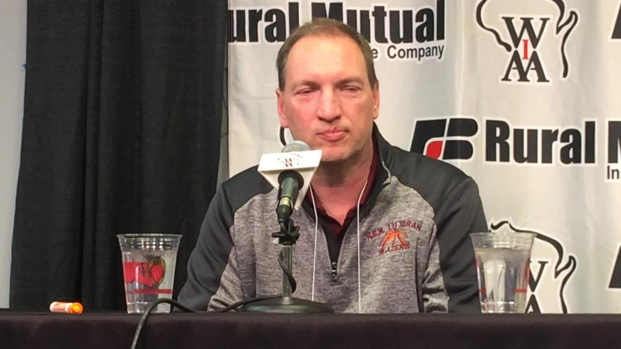 N.E.W. Lutheran boys basketball coach Mark Meerstein reflects on Friday's loss to Bangor in a WIAA Division 5 boys state basketball semifinal.
