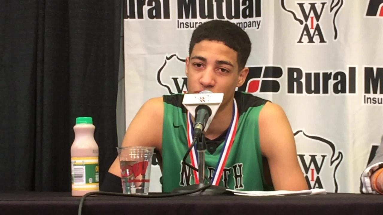 Oshkosh North senior Tyrese Haliburton describes what it means to win the WIAA Division 1 state boys basketball championship.