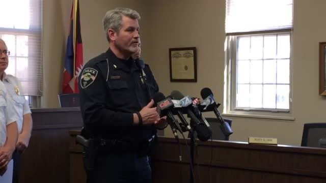 We were live at the press conference following the reports of shots fired at Kiel High School Friday morning.
