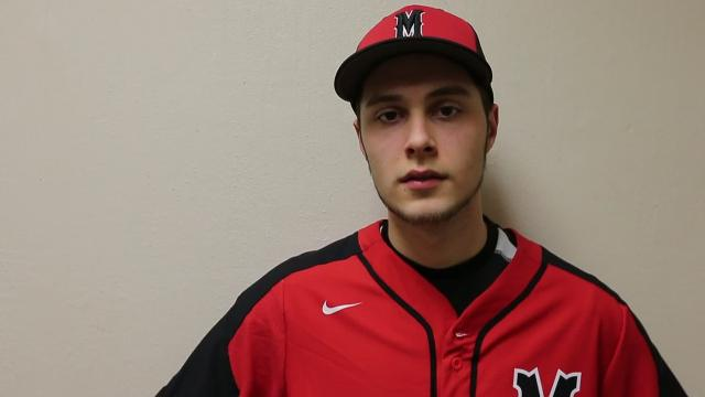 Senior Spotlight Q&A with Manitowoc Lincoln baseball player Andrew Eberhardt.