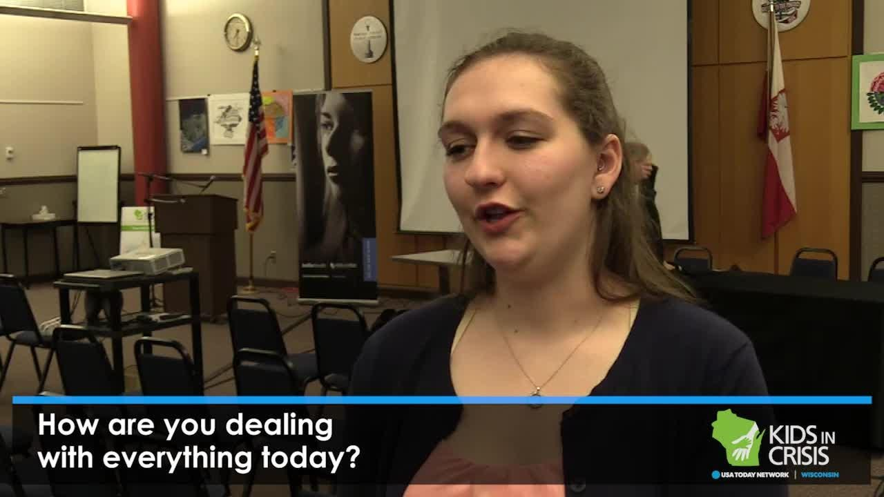 Storytellers from the Stevens Point Town Hall Kids in Crisis series, Nicole Goska and Caitlyn Gollata, share their experiences with mental health after the event.
