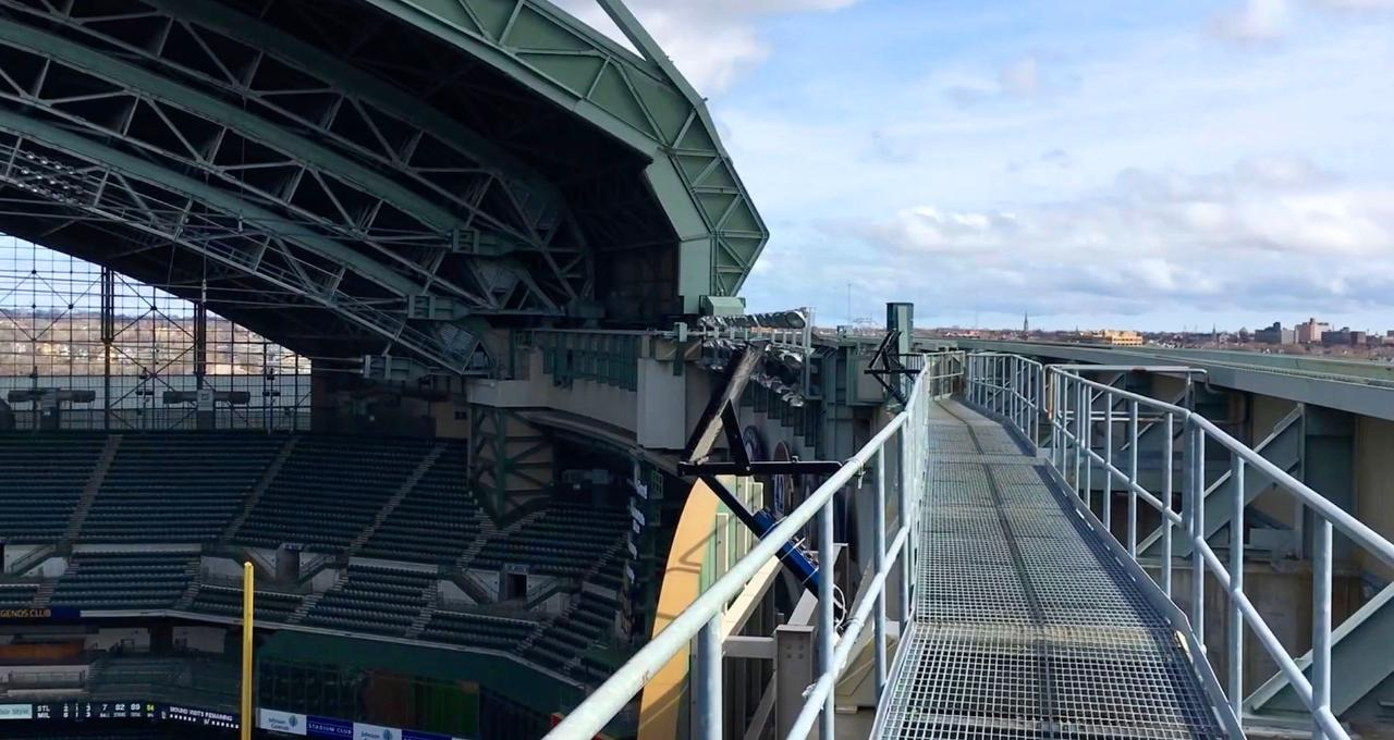 Take a climb on the Miller Park roof
