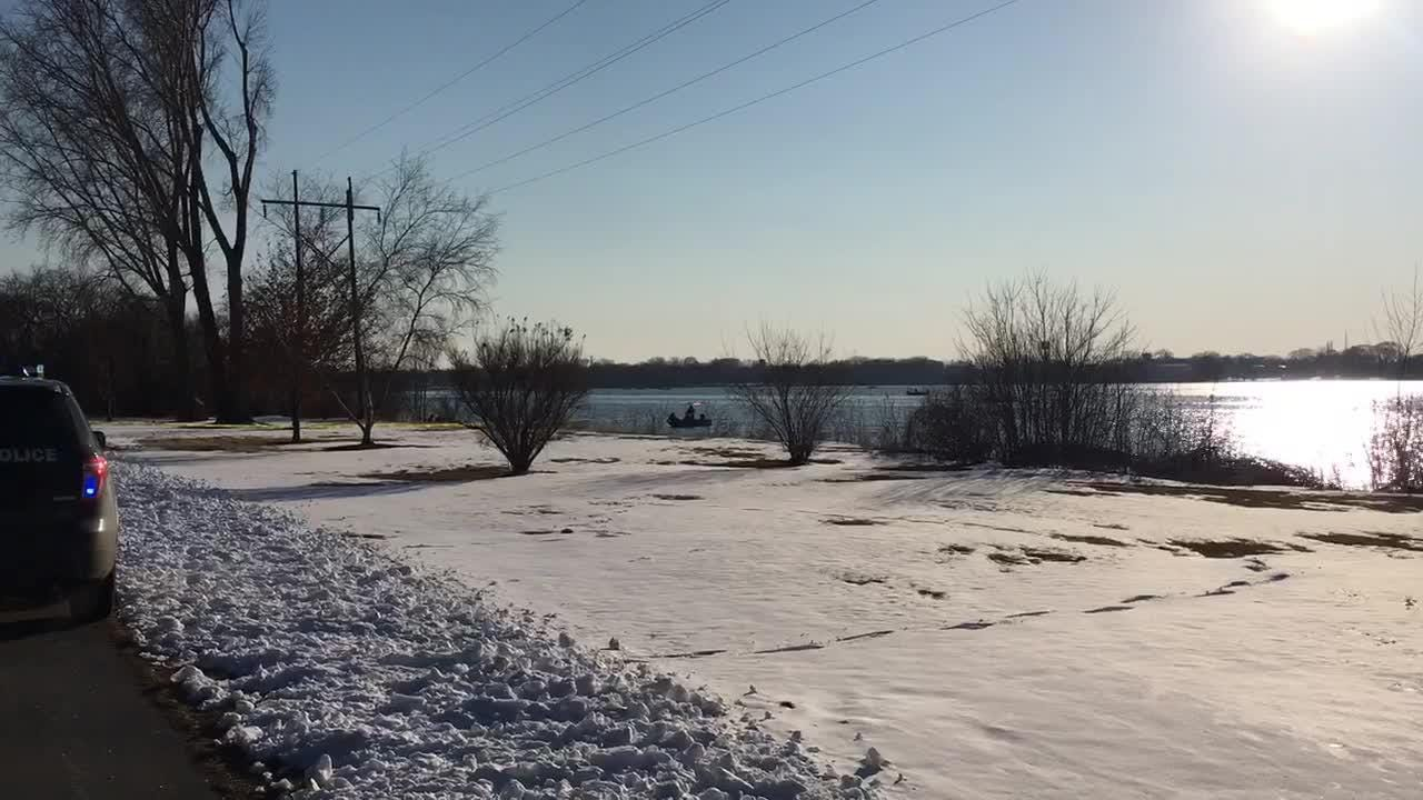 De Pere police and firefighters searched the Fox River south of the Fox Point boat landing following a report that a body was floating in the river on April 5.