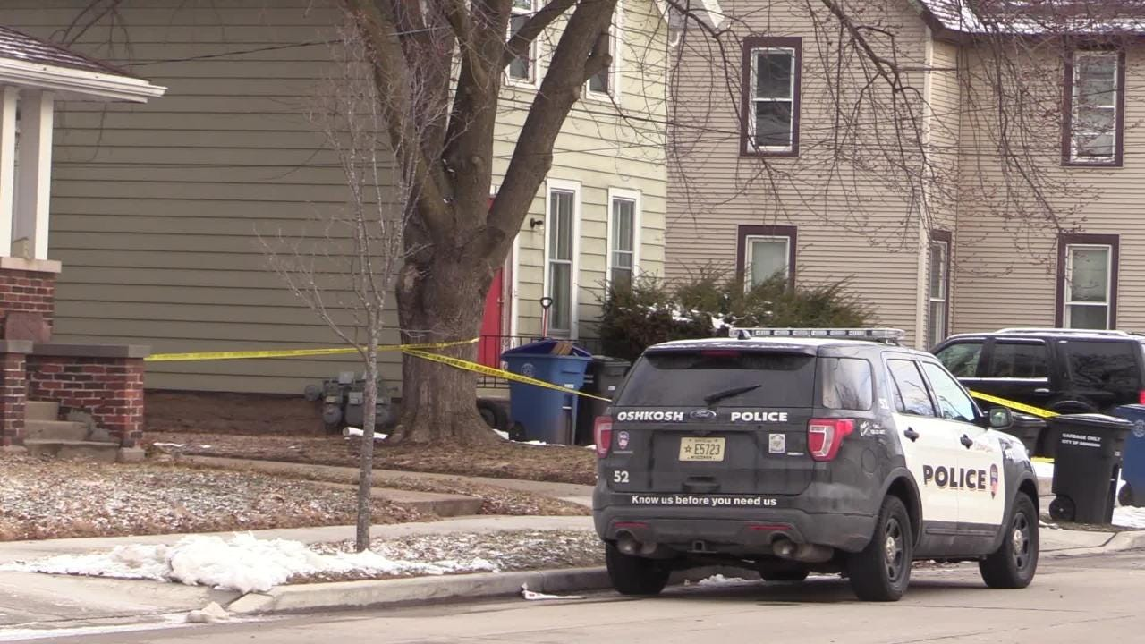 Three individuals involved in an early morning stabbing left one person dead, one in the hospital and one in custody.  The stabbing occured in the 500 block of Mt Vernon Street in Oshkosh, Wis., Friday, April 6, 2018.