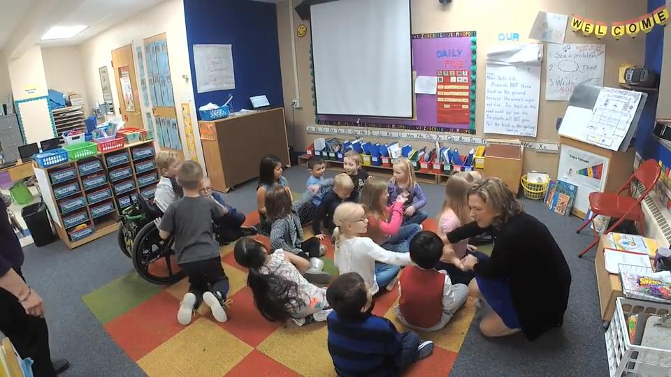 April Moran has taught 4- and 5-year-olds at Cormier School & Early Leaning Center for more than 20 years. This year, she is one of seven recipients of a Golden Apple.