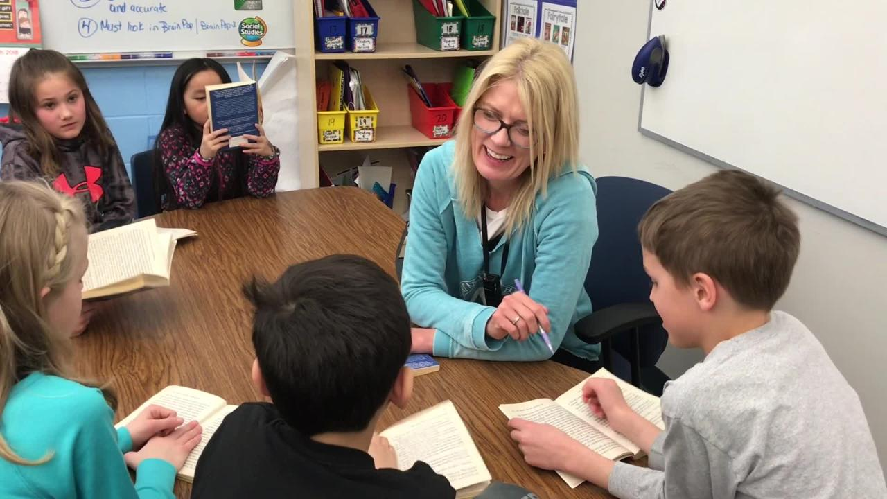 Third-grade Suamico Elementary School teacher April White is a 2018 Golden Apple winner.