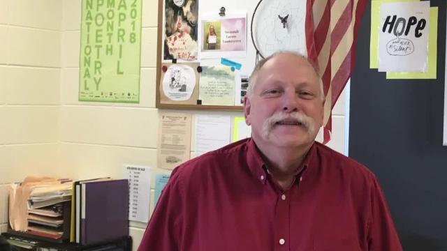 Preble High School alternative education teacher Larry Laraby is a 2018 Golden Apple winner.