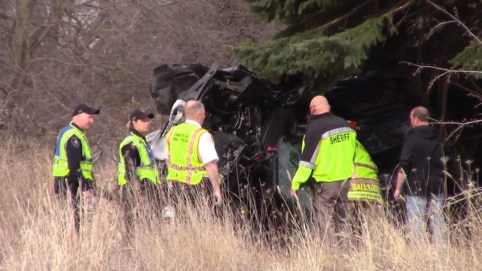 The single vehicle crash took place on Highway 23 just west of County K.