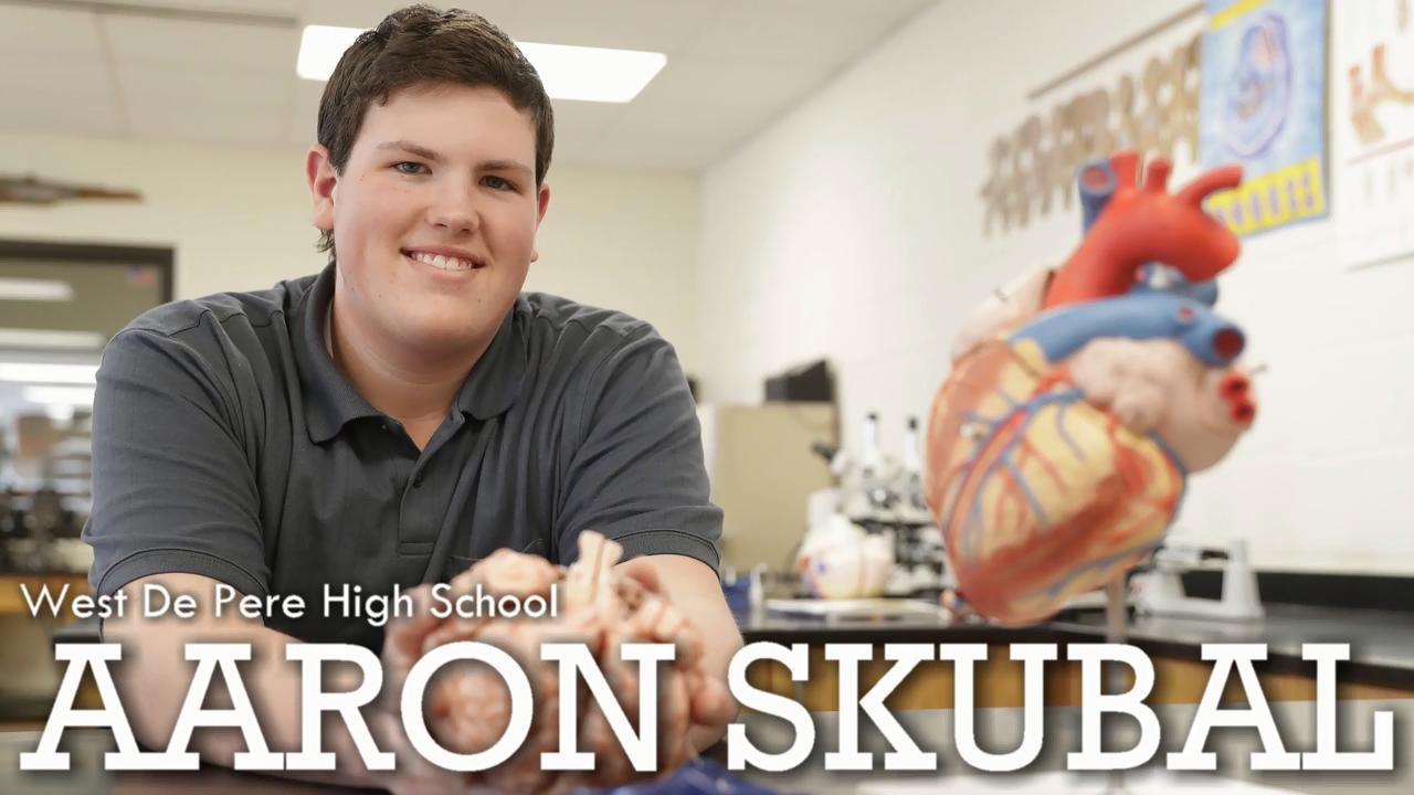 West De Pere High School senior Aaron Skubal is planning to attend the University of Wisconsin and eventually go into the medical field. Skubal is a member of the Green Bay Press-Gazette 2018 Academic Team.
