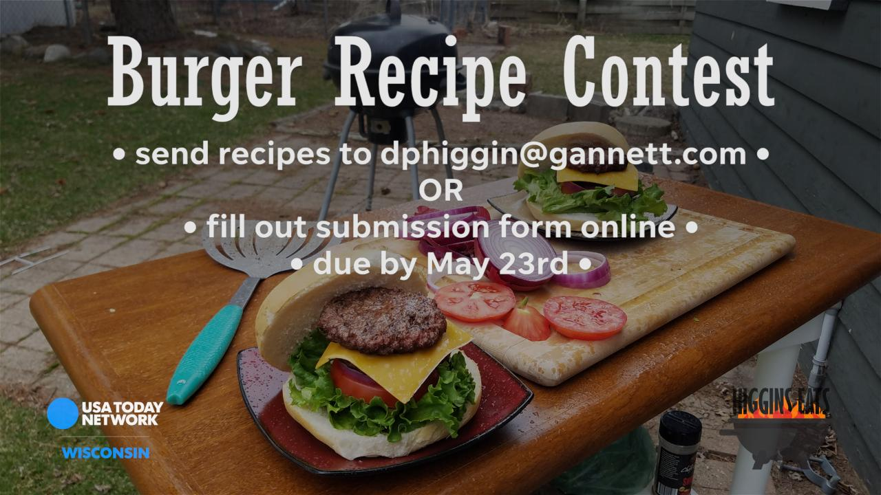 Do you have Wisconsin's best burger recipe? Prove it: Enter our contest today.