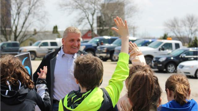 School children visit Majestic Crossing Dairy in Sheboygan County.