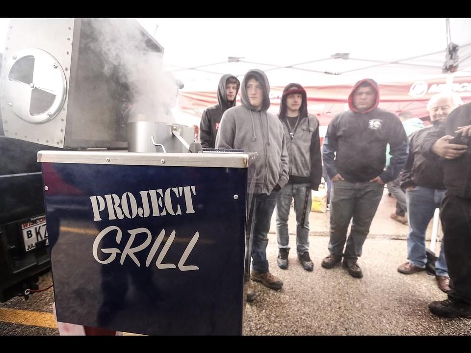 Local high school tech ed students partner with area manufacturing companies to make charcoal grills.
