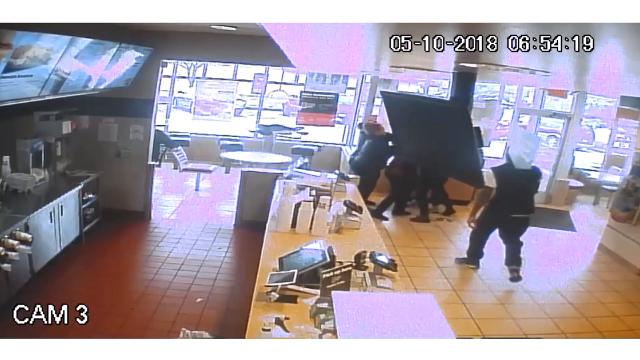A beef between two McDonald's employees escalated into a fistfight in the lobby, where acustomer and other employees had to pull the two women apart.