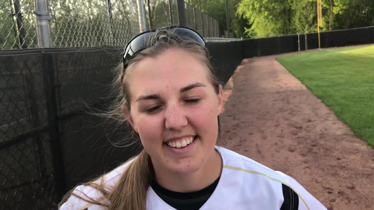 Oshkosh North's Libby Neveau went 3-for-4 with a solo home run to help fuel the Spartans win over Oshkosh West on Thursday.