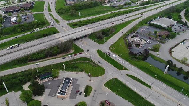 An overhead view of some of the most dangerous intersections in the Milwaukee suburbs.