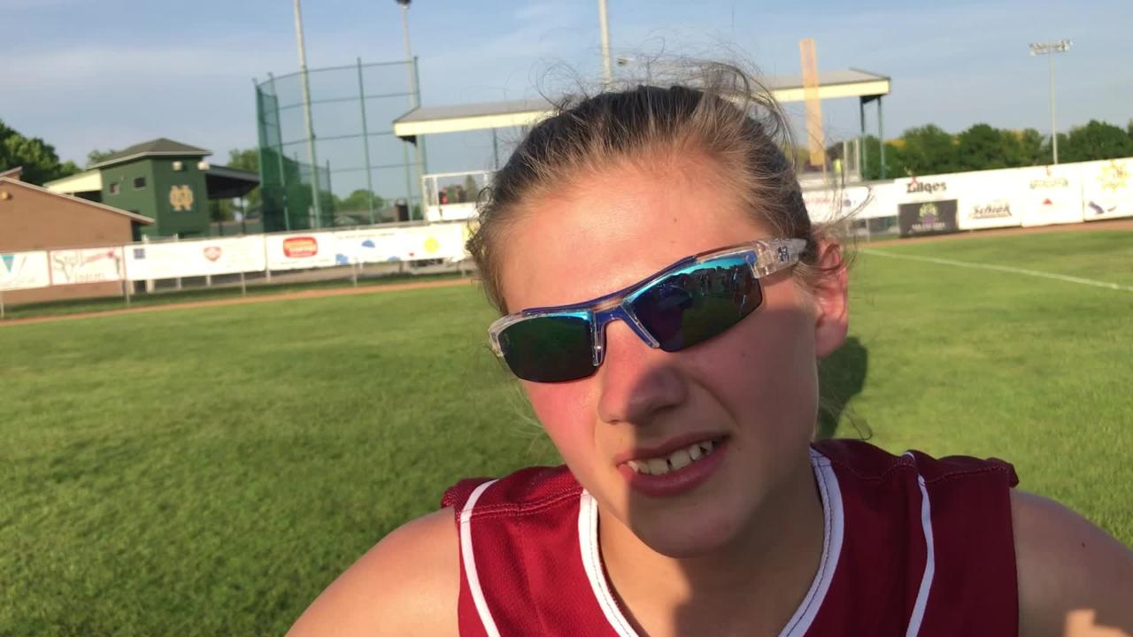 Fond du Lac's Nyah Odekirk capped a four-run sixth inning with a two-run single in the Cardinals' win over Oshkosh North in a WIAA Division 1 regional final.
