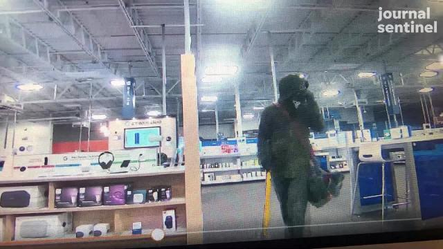 A suspect used a sledgehammer to break into the Best Buy, 4610 S. 76th St., in Greenfield at 2 a.m. May 31.