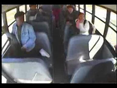 Video surveillance footage from a Riteway school bus shows a fight between two Nicolet High School students. The mother of one of the girls allegedly tracked down the bus, drove in front of the bus and hit the bus with a hammer.