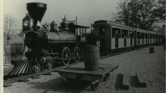 The Milwaukee County Zoo got its first train in 1958 and is celebrating its anniversary with special events and new wooden sculptures train-goers can see on the 1 1/4-mile route.