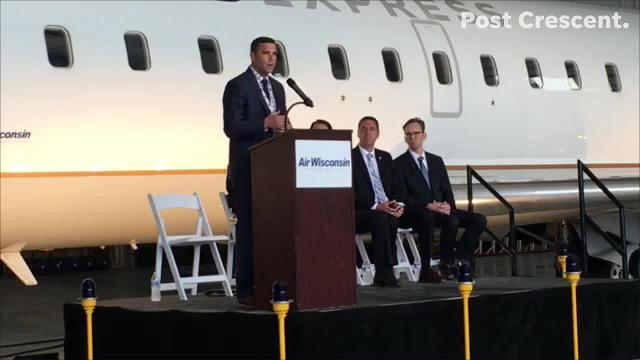 Abe Weber, director of Appleton International Airport, talks about how the airport made room for two Air Wisconsin aircraft. (Mica Soellner/USA TODAY NETWORK-Wisconsin)