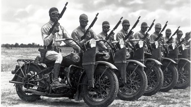 A brief history of Harley-Davidson motorcycles in the military.