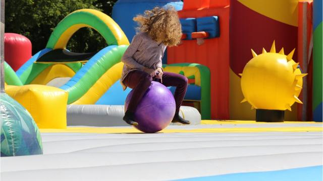 The Big Bounce America is at Greenfield Park off Lincoln Avenue in West Allis July 20-22 The inflatable playground includes a separate Bounce Village with a giant slide, basketball court, giant ball pit and obstacle course.