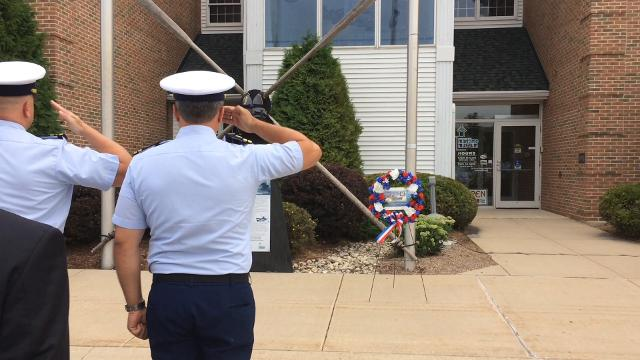 In salute of the return of the USCGC Escanaba, the Door County Maritime Museum hosted a memorial Aug.6 for those lost aboard the original Escanaba which sank in 1943. They include four Coast Guardsmen from Door County.