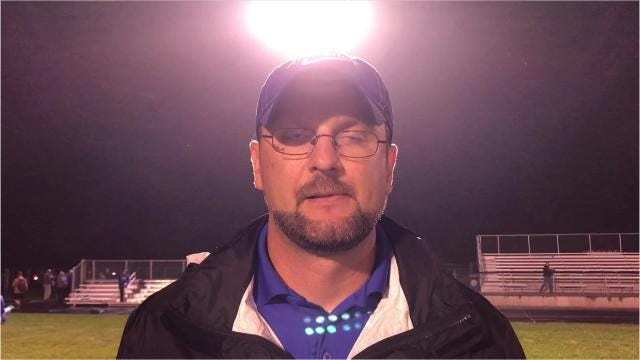 Amherst football coach Mark Lusic discusses his team's 34-0 nonconference loss to Saint Mary's Springs on Friday night. It was the first shutout loss for the Falcons since 2010.