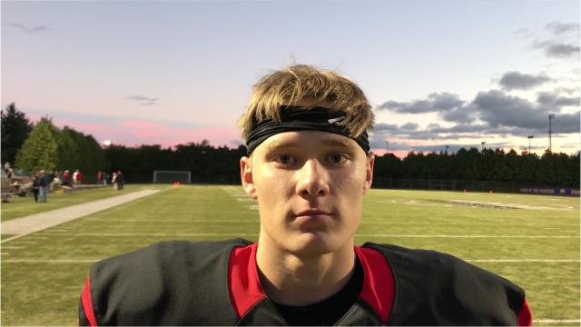 Senior defensive back Evan Thomas discusses SPASH's 21-0 win over Wausau West on Friday night as the Panthers tasted victory for the first time this season.