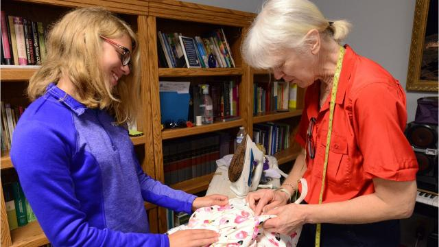 Kay Williamson has been adviser of the Thurston Flying Fingers 4-H Club for 26 years. Her daughter Katie Williamson is now her co-adviser. Together they help dozens of 4-Her's develop and complete their sewing projects.