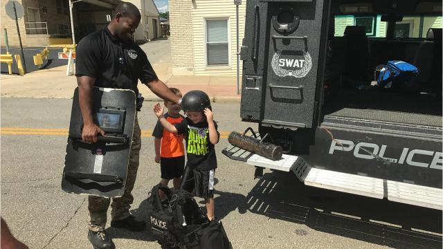 Families flocked to Richland Carrousel Park Saturday for a chance to see trucks, tractors and first responder vehicles up close.