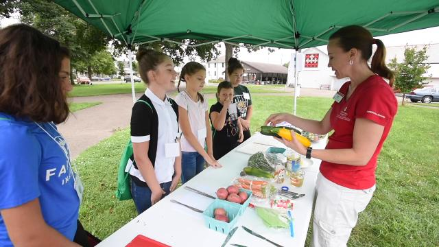 Youngsters took part in the Ohio State Extension and Local Bounty Kids' cooking class at the Coshocton County Fairgrounds on Tuesday.