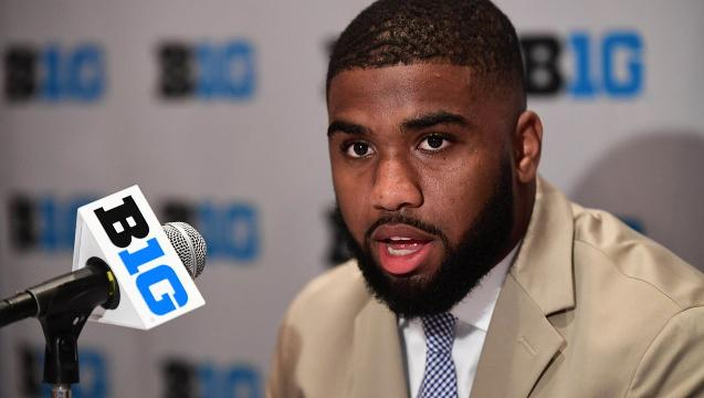 Chris Worley at Big Ten Media Days