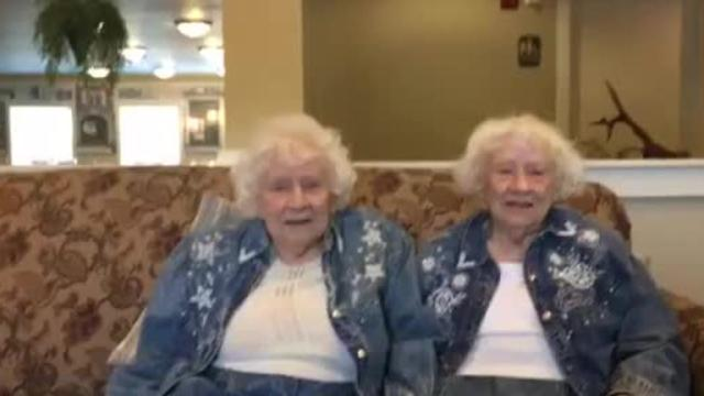 Marjorie Shellhaas, at left, and her twin sister Harriett Shellhaas, lifelong Mansfield residents, are 93 years old and live at Primrose Retirement Center.