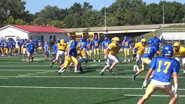 Maysville football visits Newark for first scrimmage