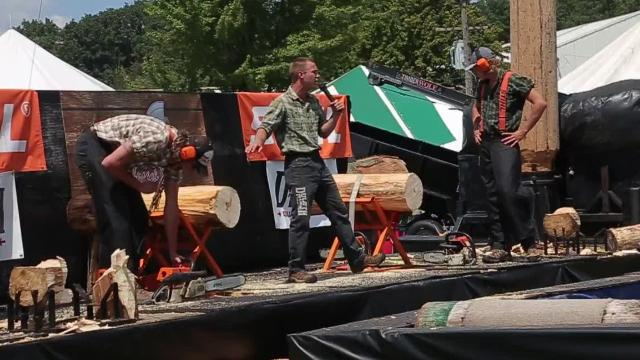Lumberjack Show at Richland County Fair