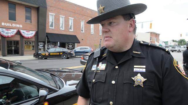 Franklin County Sheriff's Office Chief Deputy Jim Gilbert said he was just in the right place at the right time when he apprehended an escaped inmate in Canal Winchester. More than 40 officers from at least 11 agencies searched for the man.