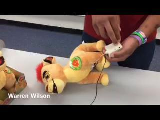 Warren Wilson explains how he modifies toys.