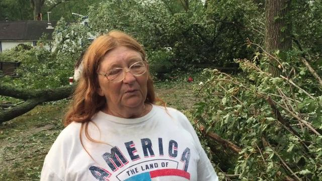 Residents are working to clean up the damage left after a Monday tornado in Crawford County.