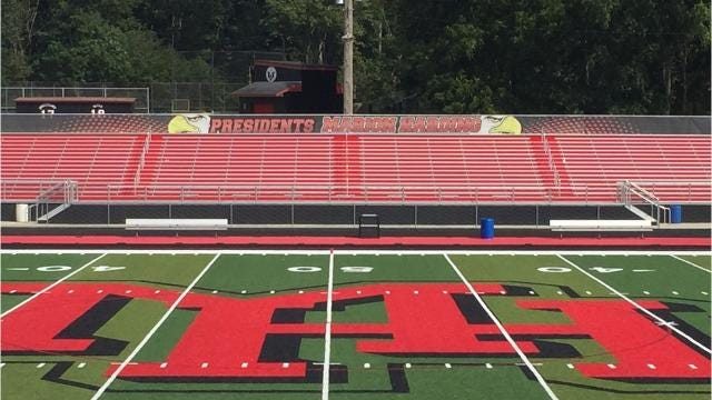 A look at Harding Stadium's new field
