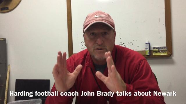 Harding football coach John Brady talks Newark
