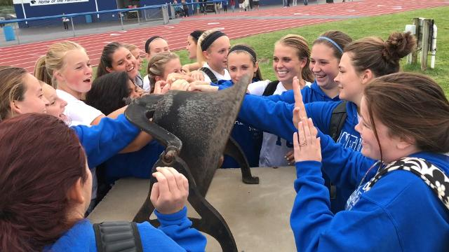 Southeastern's girls beat Westfall Monday night by a 2-0 final. How did they celebrate? Ringing the victory bell, of course.
